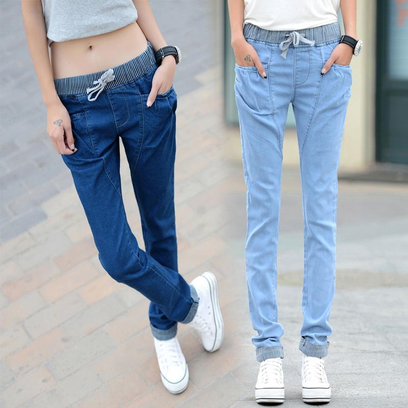 2014秋装新款女士哈伦牛仔裤女大码长裤韩版修身显瘦小脚牛仔裤女
