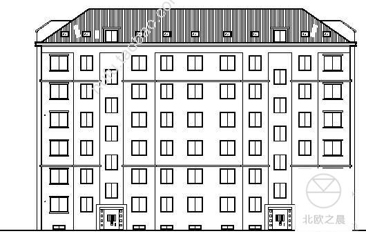 山东某六层住宅楼CAD设计建筑施工图纸