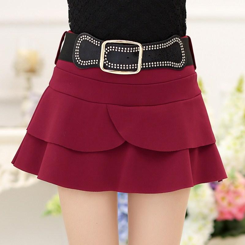 秋冬款韩版非主流女装个性荷叶边蓬蓬短裙半身裙裤裙女小个子小码