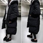 冬季新款韩国大码中长款棉衣女情侣宽松连帽加厚羽绒棉服学生外套