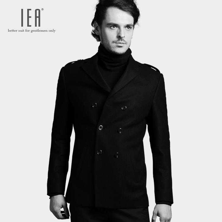 双排扣男装 2014新款羊绒小西装 修身男士休闲西服羊毛呢西服包邮