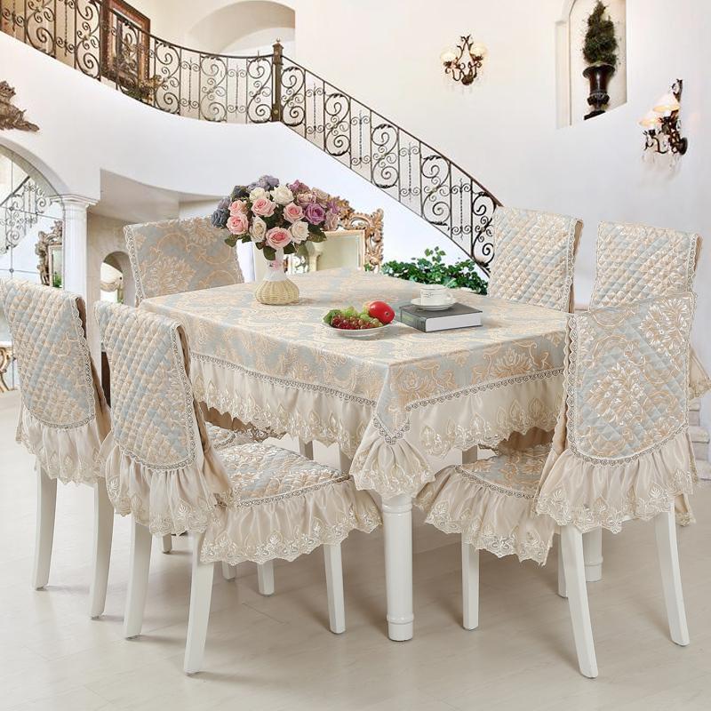 餐桌布椅套椅垫套装欧式椅子套餐椅套布艺定做茶几圆