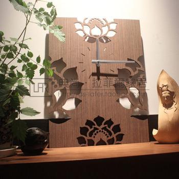 创意挂钟客厅卧室镂空木制钟表墙