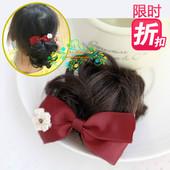 枣红色礼服配饰 F029 公主假发发夹 浪漫淑女风 限时折扣皇冠信誉