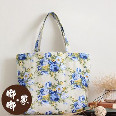 原创手工防水加厚印染帆布女包单肩包斜挎包环保购物袋折叠包特价
