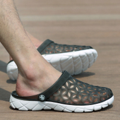 情侣大码 凉鞋 夏季男士 潮流透气女半拖鞋 拖鞋 韩版 沙滩鞋 洞洞鞋
