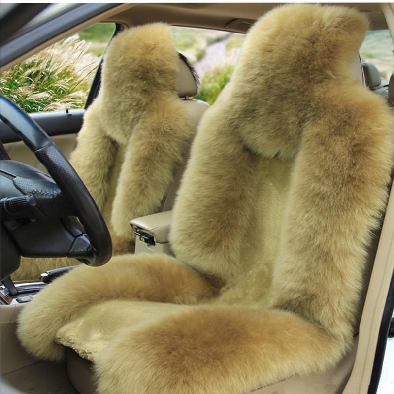 新款冬季羊毛汽车坐垫 长毛座垫毛绒 澳洲皮毛一体 汽车用品批发