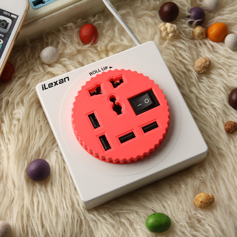 乐迪生活 / iLexan智能数码手机平板通用型扩展插座多口USB充电器