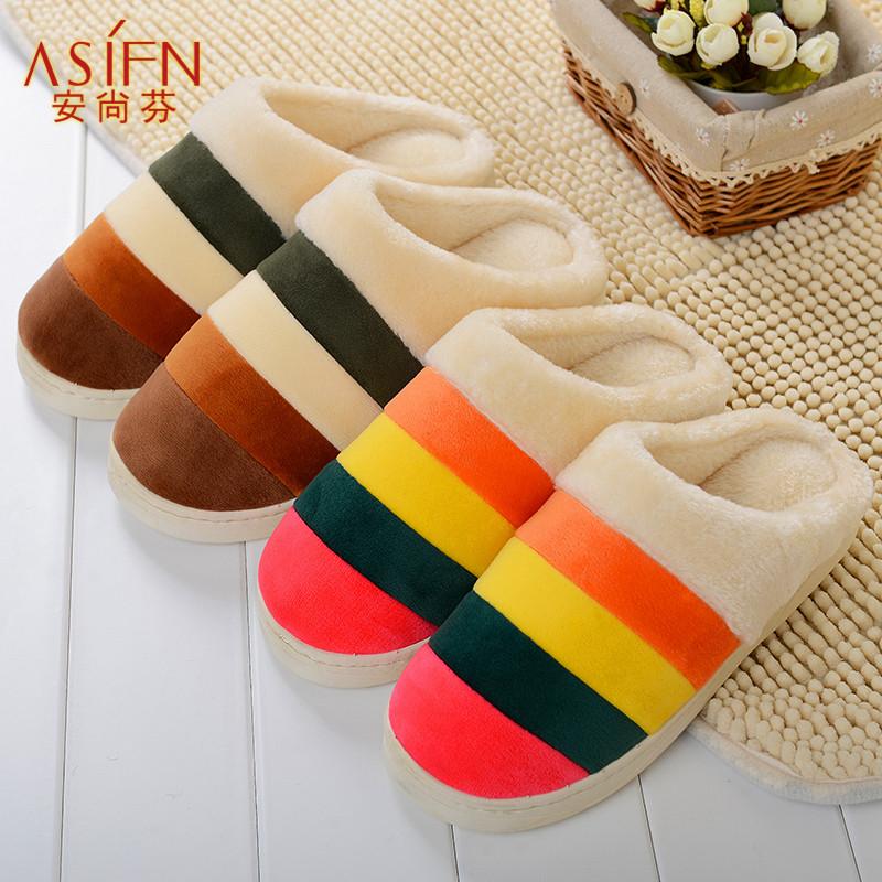 冬季居家可爱冬天保暖毛地板拖鞋家居情侣男女棉拖鞋特价