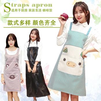厨房围裙娱乐网站白菜网站大全时尚可爱卡通防水防