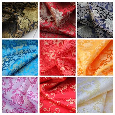 织锦缎布料 唐装旗袍