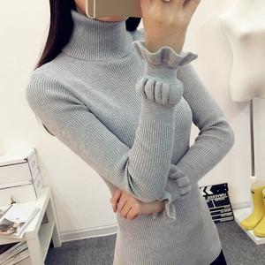 高领毛衣 女打底衫