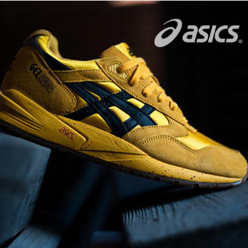 香港代购asics亚瑟士跑步鞋爱世克斯男鞋女鞋情侣鞋火山红运动鞋