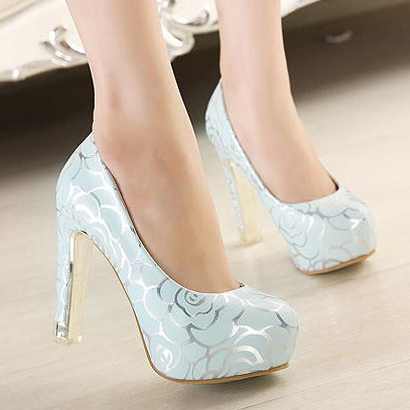 高跟鞋女粗跟单鞋百搭舒适职业女士低帮鞋新款甜美圆头防水台女鞋