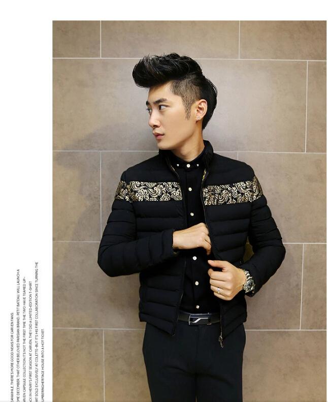 2014冬季新款立领棉衣男士韩版修身加厚保暖棉衣男棉袄外套潮6091