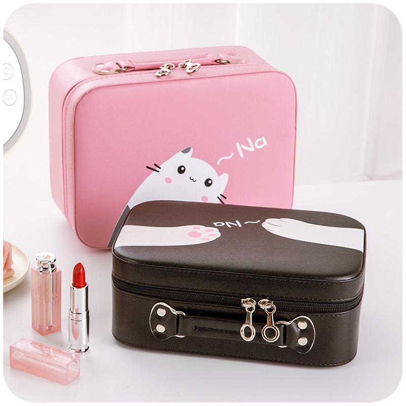 化妆包小号便携韩国简约少女心可爱收纳包随身大容量手提化妆品箱
