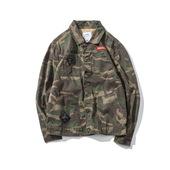 日系潮牌原创工装夹克男青年日常流行春款长袖徽章外套