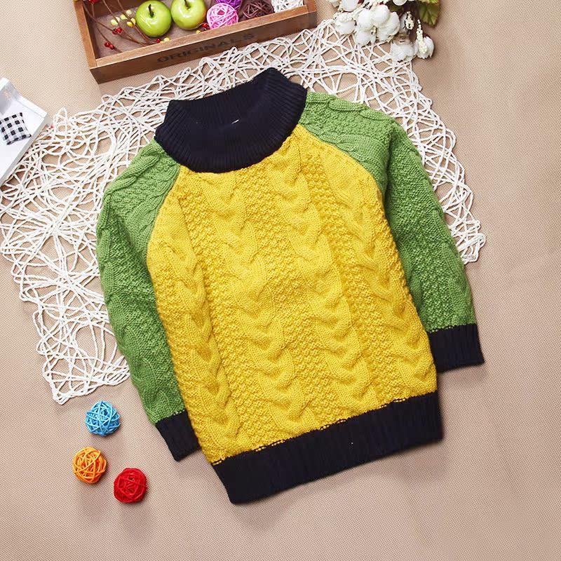 婴儿羊绒衫小孩上衣男童小外套儿童针织衫宝宝毛衣开衫秋冬季套头