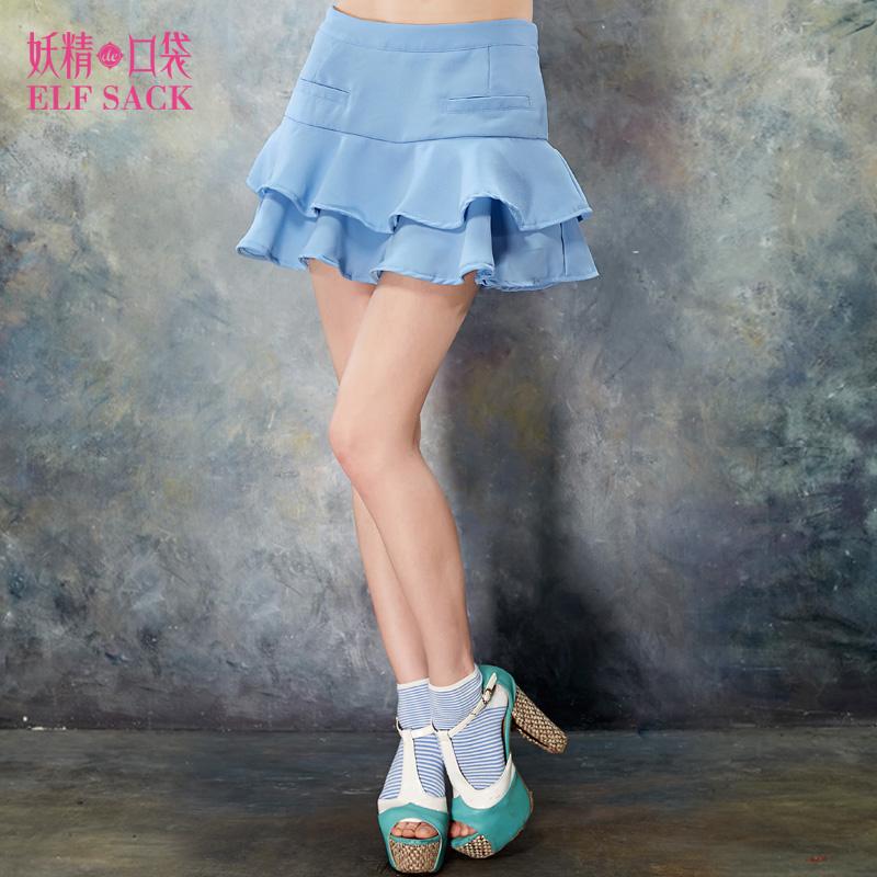 新 妖精的口袋 单身蚂蚁秋装浪漫荷叶边甜美短裤