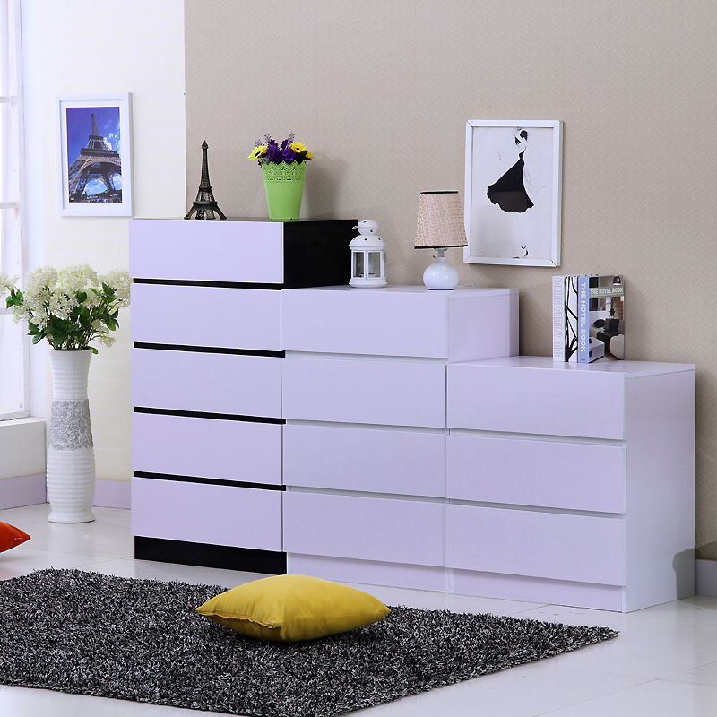 宜家美式斗柜三四五斗柜子简约现代客厅欧式柜子储物柜儿童床头柜