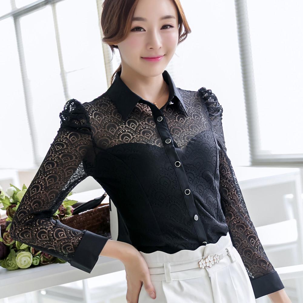 拉夏贝尔2014淑女坊早秋装长袖新款韩版正品长袖蕾丝雪纺打底衫