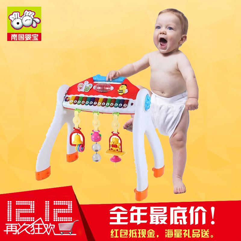 南国婴宝多功能婴儿音乐电子琴健身架儿童健身器学步车0-1岁玩具