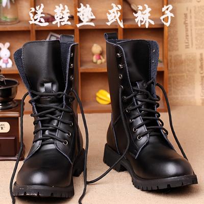 机车靴内增高中筒靴马丁靴男女秋冬情侣款军靴时尚潮流骑士靴子