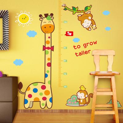 儿童房壁纸宿舍宝宝装饰墙纸贴画墙贴自粘卧室测量身高贴纸可移除