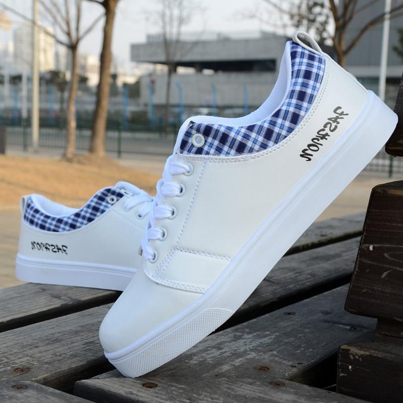 秋季男士帆布鞋男鞋子韩版潮流白鞋子透气休闲学生板鞋运动跑步鞋