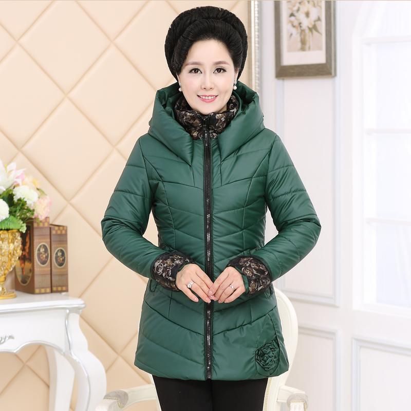 中老年女装冬装棉衣时尚中年女装棉服妈妈装冬装加厚棉袄