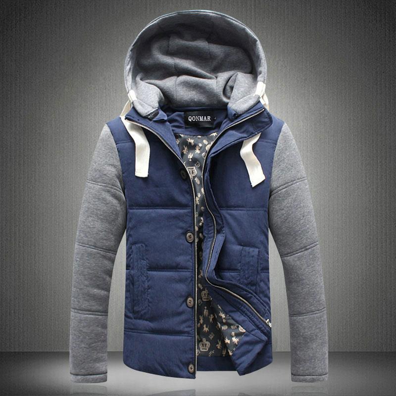 青少年棉袄棉衣男装加大春季加厚男士外套学生保暖