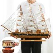 饰木质仿真手工欧式工艺品海盗瓶中船礼物 一帆风顺帆船模型摆件装