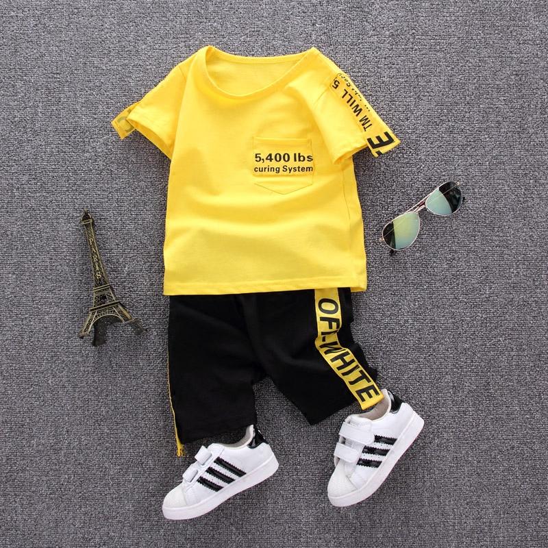 短袖婴儿儿童宝宝男童夏装韩版潮套装衣服夏季