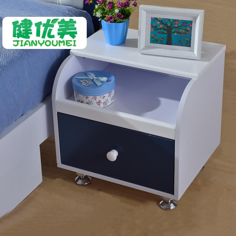 健优美家具 儿童房家具组合 配套田园床头柜 收纳柜 储物柜床边柜