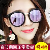 2017新款潮明星同款大框圆脸眼镜复古偏光镜驾驶太阳镜女士墨镜女