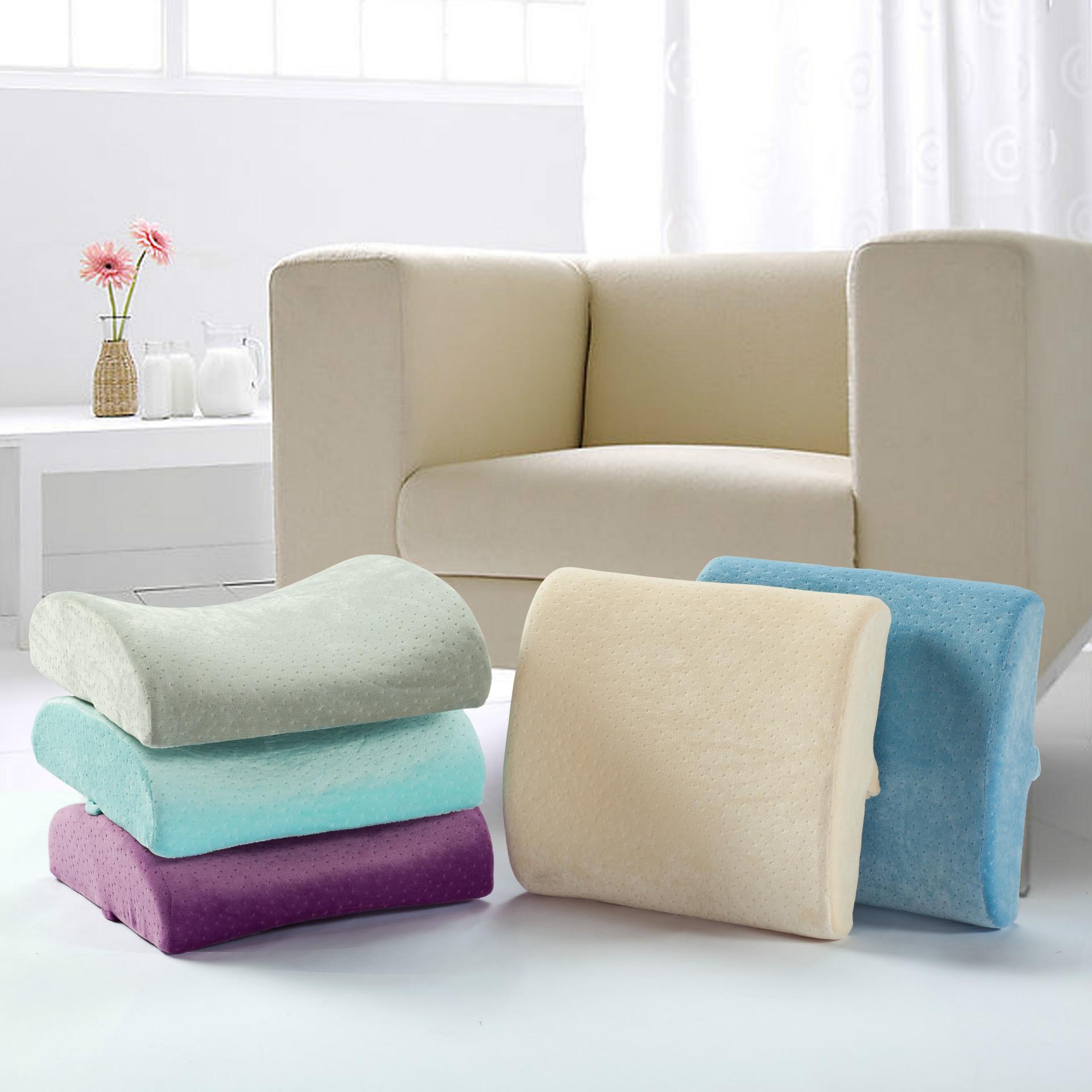 慢回弹记忆棉靠垫办公室座椅靠护腰枕汽车抱枕腰垫记忆棉孕妇靠枕