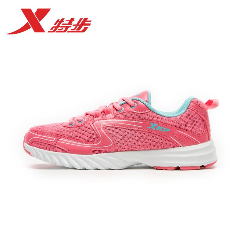 特步女鞋跑步鞋2015夏季网面透气运动鞋女休闲鞋防滑跑