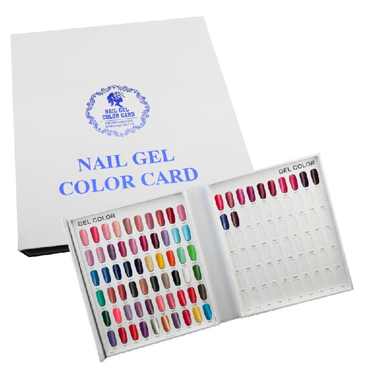 美甲色卡展示板色本 色卡板本 甲片盒 样板卡 高档美甲店黏贴色本