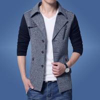 男士2016新款外套春秋韩版夹克青少年春季呢子男装青年春装衣服潮