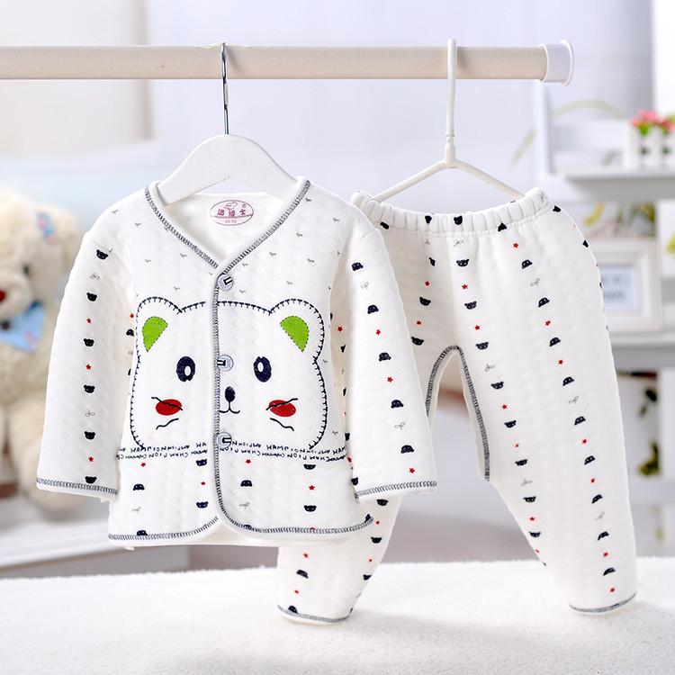 宝宝保暖内衣套装 秋冬季加厚宝宝保暖服装 新生儿内衣套装