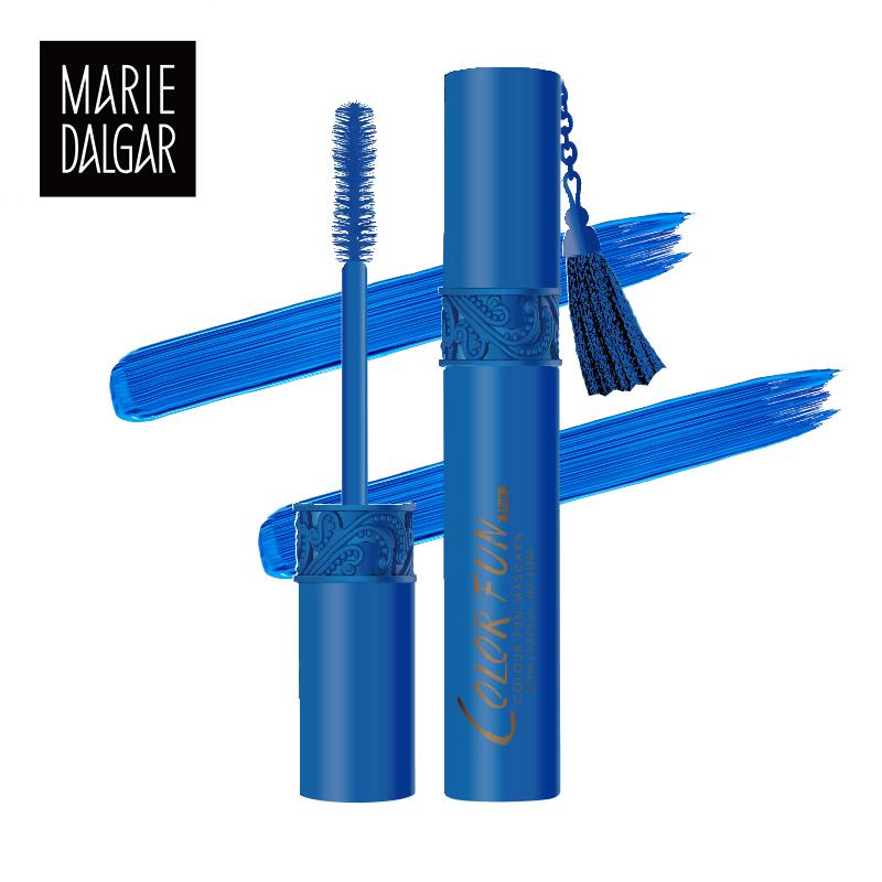 玛丽黛佳睫毛膏 蓝色红色范儿卷翘纤长不晕染 彩色出色睫毛膏正品
