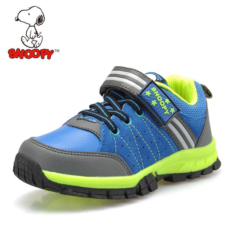 包邮史努比魔术贴拼接男童鞋防滑儿童运动鞋百搭儿童鞋休闲鞋