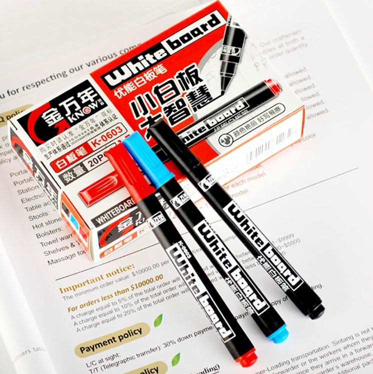 包邮金万年K-0603儿童安全无毒可擦办公迷你细水性小白板笔
