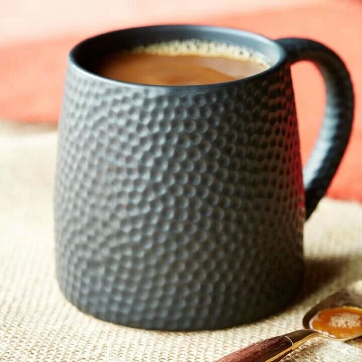 包邮星巴克 限量2014新款锤印马克杯 创意陶瓷咖啡杯子 情侣水杯
