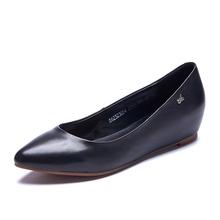 奥康女鞋新款平底单鞋浅口内增高舒适尖头简约低跟工作鞋图片