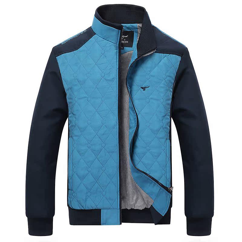 2014新款春秋装韩版修身型立领休闲潮男装男士青年薄款夹克衫外套