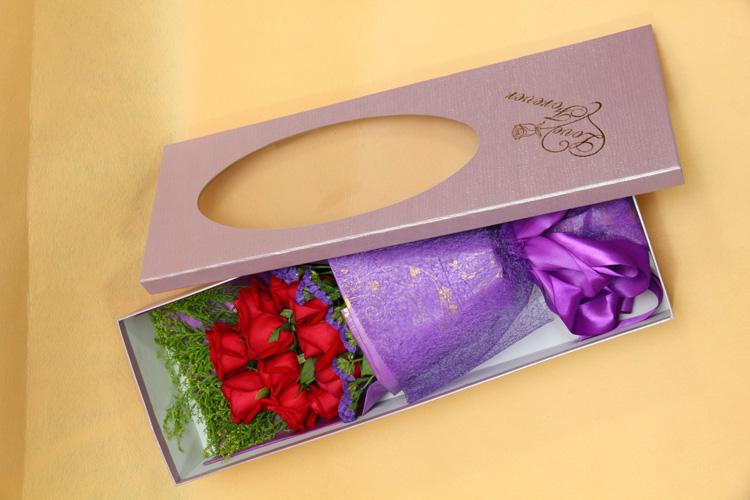 实拍礼盒精品玫瑰花束一心一意情人生日节日佛山同城送花鲜花速递