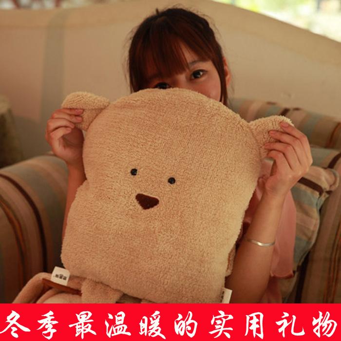 闺蜜生日礼物女生实用创意礼物 男生送女友礼物可爱四合一抱枕
