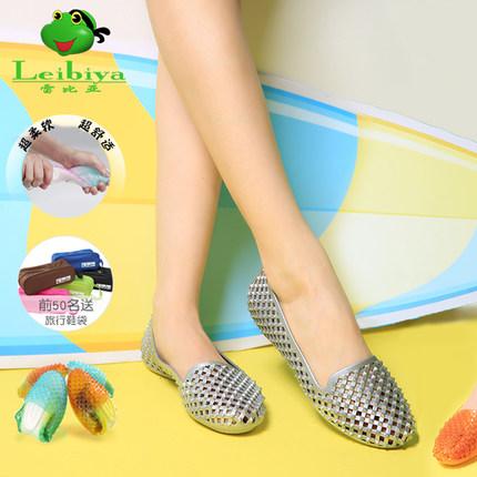 雷比亚夏季新款女式彩虹时尚平底平跟镂空甜美韩版休闲凉鞋女鞋