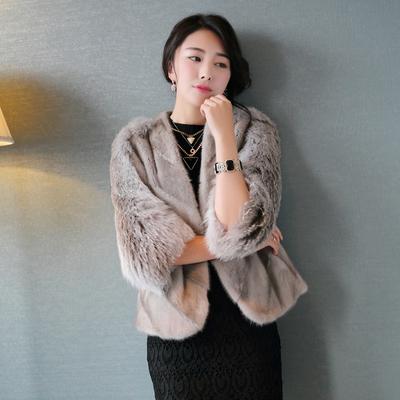 [新品首发] 海宁皮草2015冬季新款貂皮大衣女款整貂短款水貂毛外套